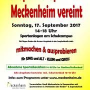 Plakat Spiel- & Sportfest Meckenheim 2017